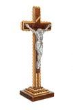 Wooden crucifix isolated Stock Image