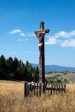 Wooden crucifix Royalty Free Stock Images