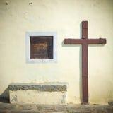 Wooden crucifix Stock Photos