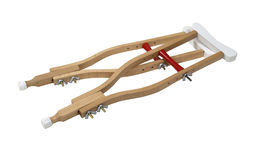 Wooden Crutches Stock Photography