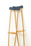 Wooden crutches rest Stock Images