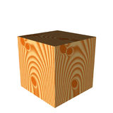 Wooden cube. The image of a wooden cube Royalty Free Stock Photo