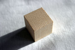 Wooden cube royalty free stock images