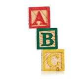 Wooden cube alphabet Royalty Free Stock Images