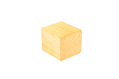 wooden cube block Stock Image