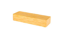 Wooden cube block. Wooden geometric cube block isolated on white background Stock Photography