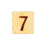 Wooden cube with the number Royalty Free Stock Image