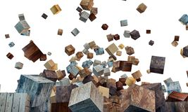 Wooden cubes Stock Images