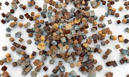 Wooden cubes Royalty Free Stock Image