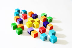 Wooden Cubes Stock Photo