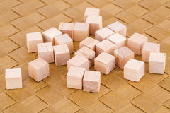 Wooden cubes Royalty Free Stock Images