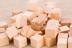 Wooden cubes Stock Image