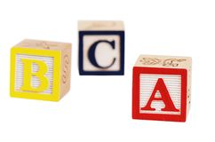 Wooden cubes  isolated on white background Royalty Free Stock Image