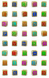 Wooden cubes letters Royalty Free Stock Images