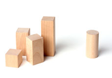 Wooden cubes (racism) Royalty Free Stock Photo
