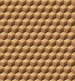 Wooden cubes seamless texture. Abstract pattern from wooden cubes. Seamless texture Stock Photography