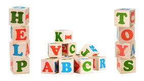 Wooden cubes Stock Photos