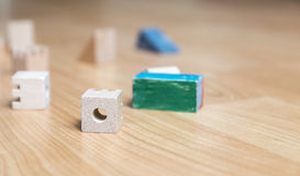 Wooden Cubes Royalty Free Stock Photos