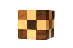 The Wooden Cubic Royalty Free Stock Photo