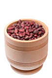 Wooden cup with cedar nuts Royalty Free Stock Photography