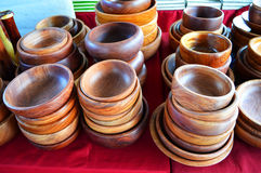 Wooden cup sale Stock Image