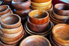 Wooden cup sale Royalty Free Stock Image
