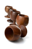 Wooden cups Stock Photo