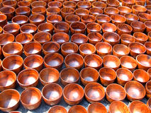 Wooden cups Stock Images