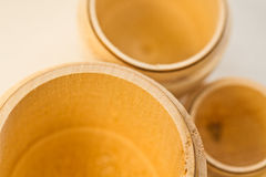 Wooden cups Royalty Free Stock Photo