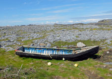 Wooden Currach Inishmore Ireland Royalty Free Stock Images