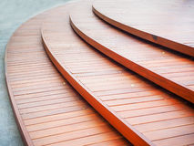 Wooden curve of step Royalty Free Stock Photography