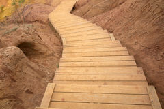Wooden Curved Stairway Royalty Free Stock Photos