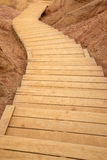 Wooden Curved Stairway Stock Photo
