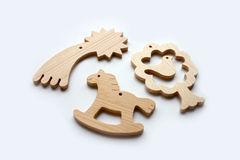 Wooden cut-out toys Stock Photography