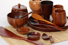 Wooden cutlery Stock Image