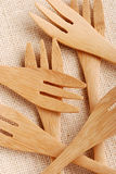 Wooden cutlery Stock Photography