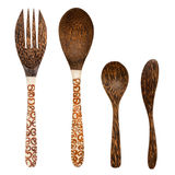 Wooden cutlery Stock Photos