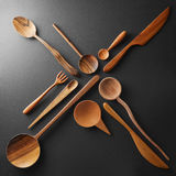 Wooden cutlery in the form of a cross Stock Photography