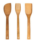 Wooden cutlery Royalty Free Stock Photos