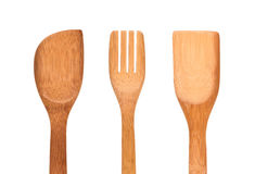 Wooden cutlery Royalty Free Stock Photo