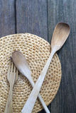 Wooden cutlery Royalty Free Stock Image