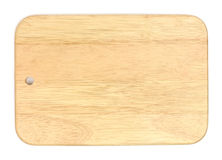 Wooden cutting board. Isolated on white background Royalty Free Stock Photos