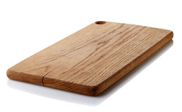 Wooden cutting board. Brown wooden cutting board isolated on white background. Clipping path Royalty Free Stock Image