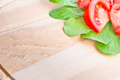 Wooden cutting board close-up Stock Photography