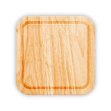 Wooden Cutting Board With Groove. Vector Royalty Free Stock Image