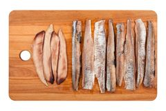 Herring Fillet On White Royalty Free Stock Photography