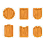 Wooden cutting board icon Royalty Free Stock Photo