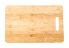 Wooden cutting board isolated Royalty Free Stock Photo