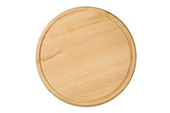 Wooden cutting board isolated Royalty Free Stock Photos