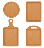 Wooden cutting board vector illustration. On white background Stock Image
